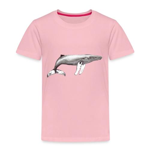 Humpback whale ink - Yubarta blanco y negro tinta - Camiseta premium niño