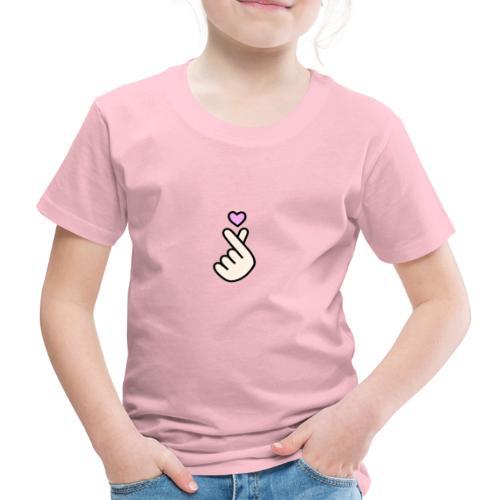 Korean Heart Finger - T-shirt Premium Enfant