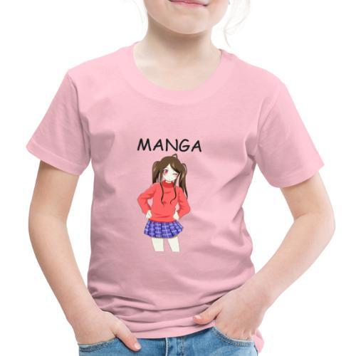 Anime girl 02 Text Manga - Kinder Premium T-Shirt