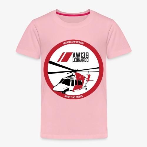 AW139 SAR Diseño Frontal - Camiseta premium niño