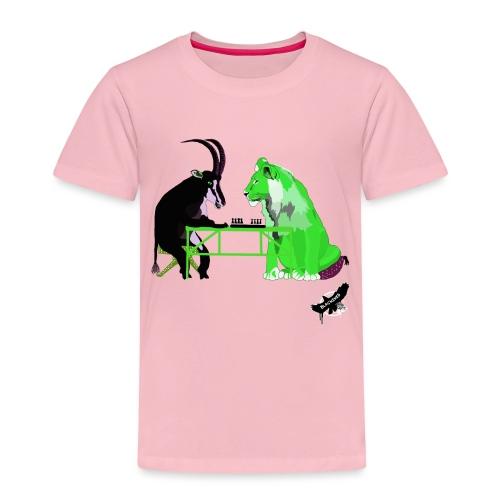 Playing Senet by BlackenedMoonArts, green w. logo - Børne premium T-shirt