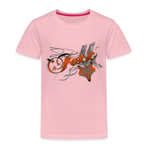 Grunge Orange Foxx - Kids' Premium T-Shirt