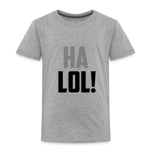 The CrimsonAura 'Ha LOL!' Stream Quote. - Kids' Premium T-Shirt