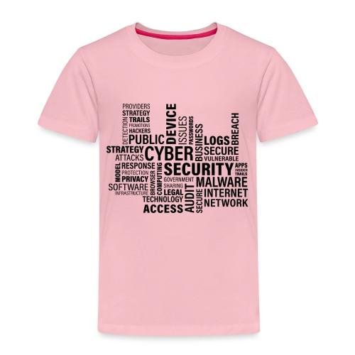 cyber security text print - Børne premium T-shirt