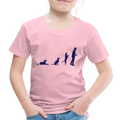 hundemensch vektor orange - Kinder Premium T-Shirt