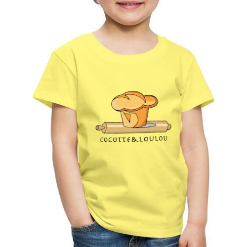 Brioche française et rouleau à patisserie - T-shirt Premium Enfant