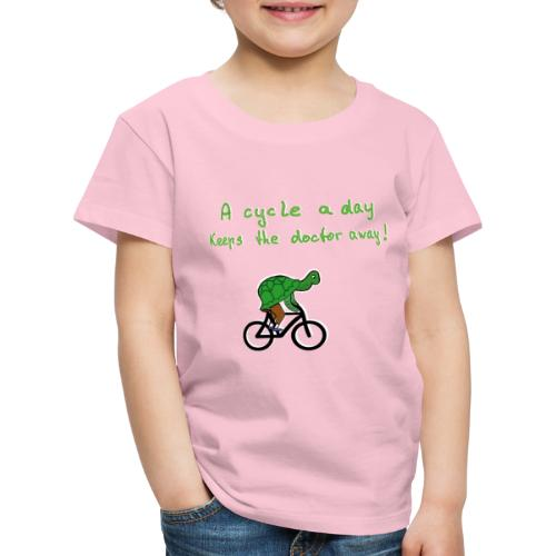 A cycle a day keeps the doctor away - Kinder Premium T-Shirt
