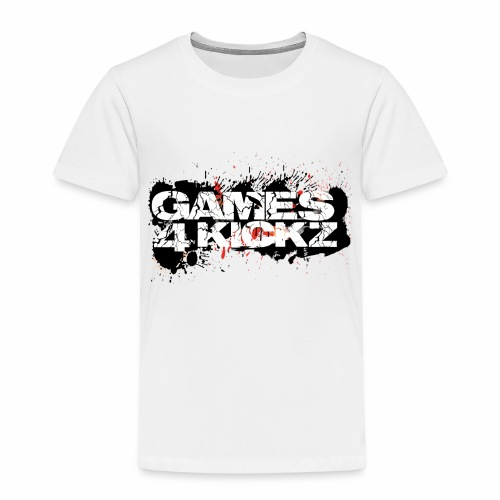 Games4Kickz Logo Splattered Background - Kids' Premium T-Shirt
