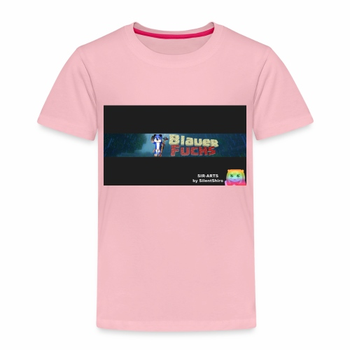 Minecraft Banner / BlauerFuchs - Kinder Premium T-Shirt