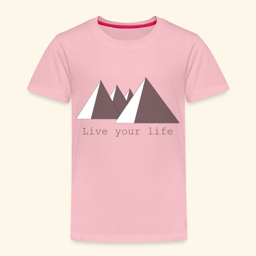 Live your life - Kinderen Premium T-shirt