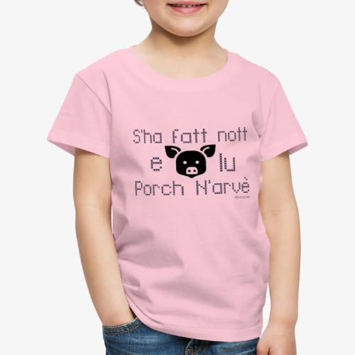 Porco torna a casa - Maglietta Premium per bambini