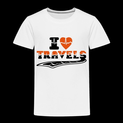 i love travels surprises 2 col - Kids' Premium T-Shirt
