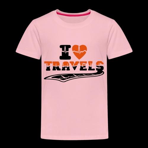i love travels surprises 2 col - Kids' Premium T-Shirt