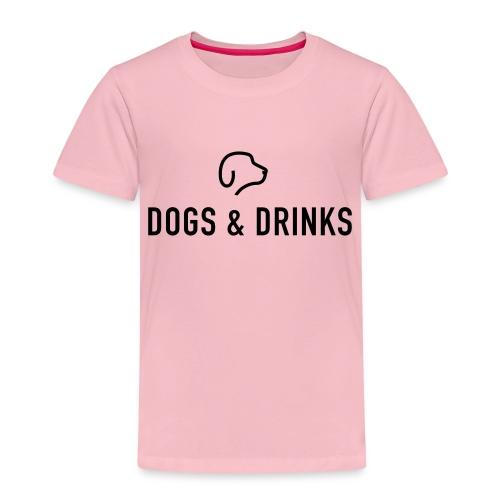 logo dogs and drinks zwart lettertype - T-shirt Premium Enfant