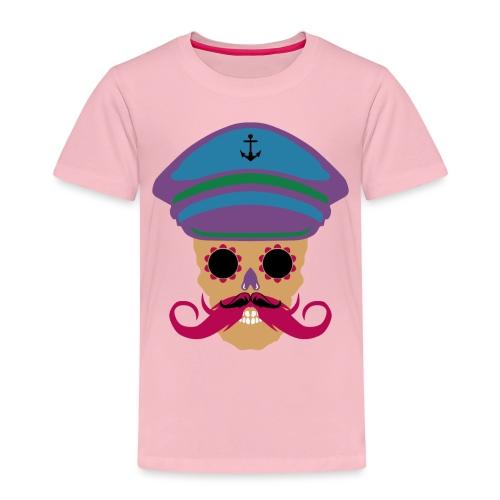 tete de mort fantaisie crane dessin kepi moustache - T-shirt Premium Enfant