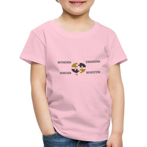 Ein Puzzel setzt sich zusammen - Kinder Premium T-Shirt
