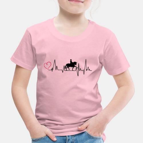 Heartbeat Dressurreiterin klassisch Herz - Kinder Premium T-Shirt
