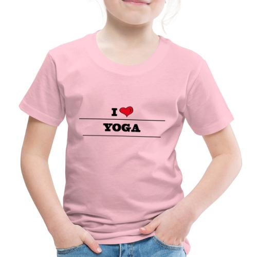 I ❤️ YOGA - T-shirt Premium Enfant