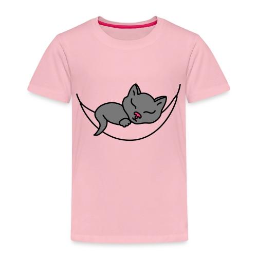 Schlafende Katze - Kinder Premium T-Shirt