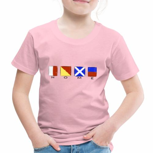 Home, International Code Sea Flag, Sea clothes etc - Lasten premium t-paita