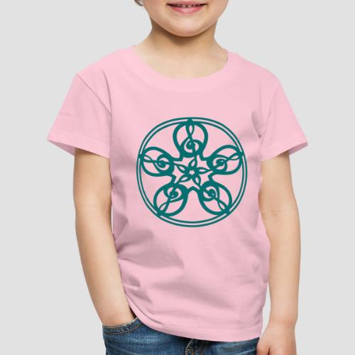 Treble Clef Mandala (teal) - Kids' Premium T-Shirt