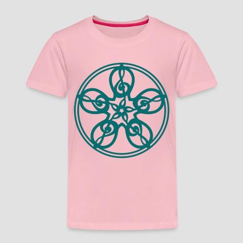 Treble Clef Mandala (teal) - Kids' Premium T-Shirt