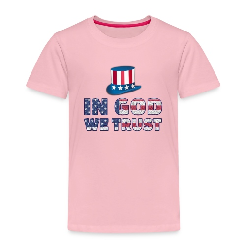 America-Slogan-In-God - Kinder Premium T-Shirt