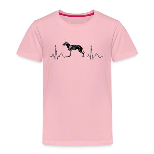ECG met hond - Kinderen Premium T-shirt