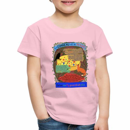 Le Corbeau et le Renard (Jean de la Fontaine) - T-shirt Premium Enfant