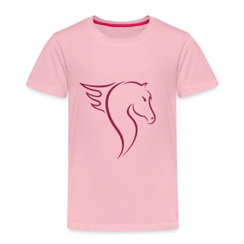 Pferdekopf mit Ross - Kinder Premium T-Shirt