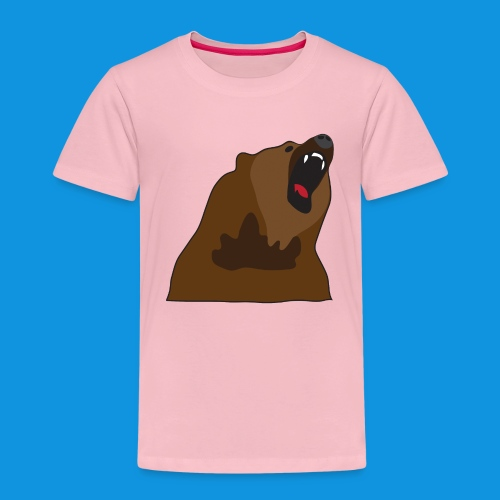 Growling Bear - Kids' Premium T-Shirt