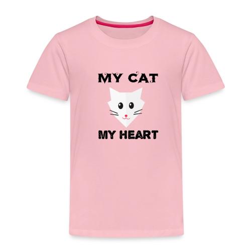 my cat my heart - T-shirt Premium Enfant