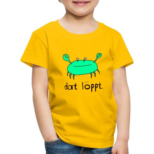 Ostfriesland Fun - Dat Löppt Strandkrabbe - Kinder Premium T-Shirt