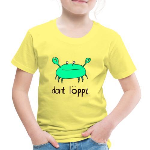 Ostfriesland FUN Shirt - Dat Löppt Strandkrabbe - Kinder Premium T-Shirt
