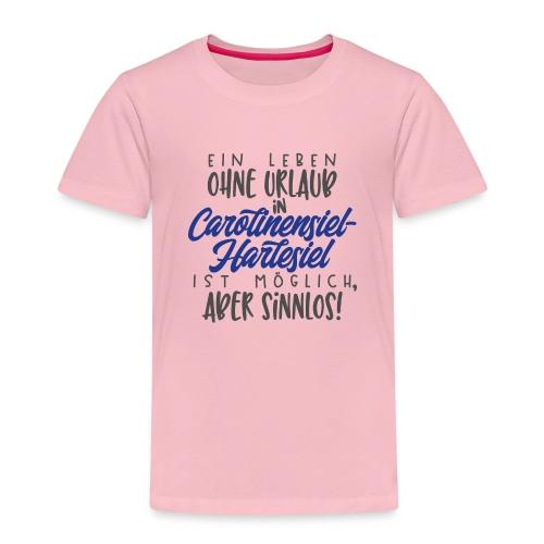 Ein Leben ohne Urlaub (blau) - Kinder Premium T-Shirt