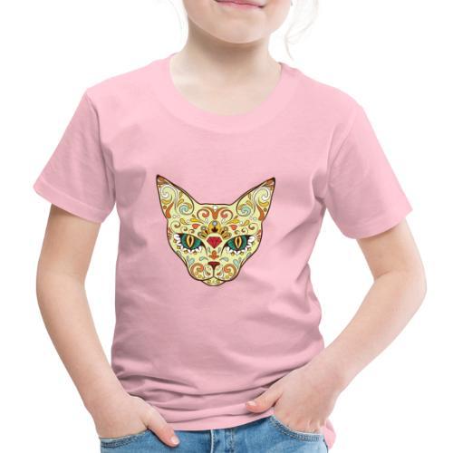 Skull Cat - Maglietta Premium per bambini