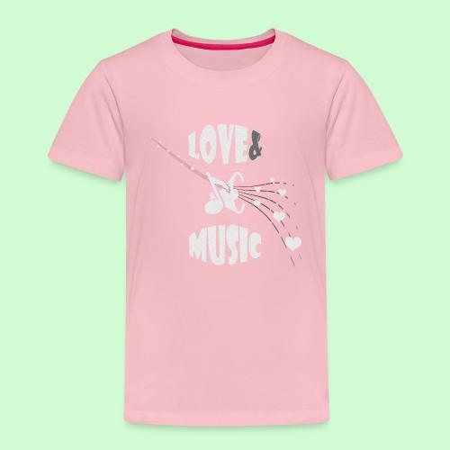 Love & Music - Kinderen Premium T-shirt
