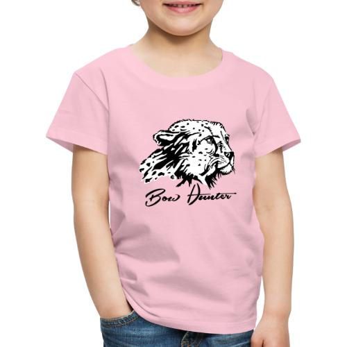 Bow Hunter Gepard 2 färbig - Kinder Premium T-Shirt