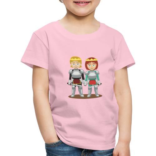 Prinzessin und Prinz mit Schwert - Kinder Premium T-Shirt