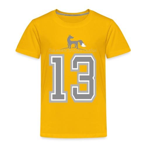 Grey sneaky fox - Børne premium T-shirt