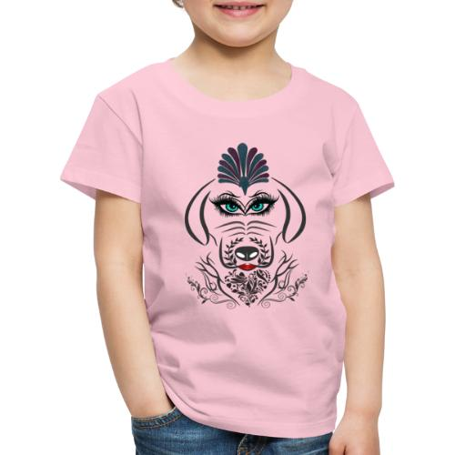 Hipster Dog Girl by T-shirt chic et choc - T-shirt Premium Enfant