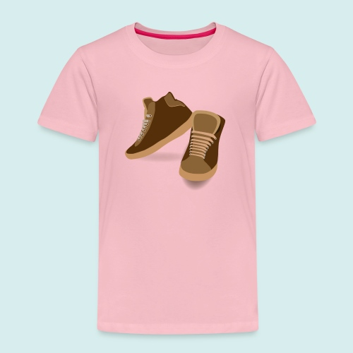 brown trainers png - Kids' Premium T-Shirt