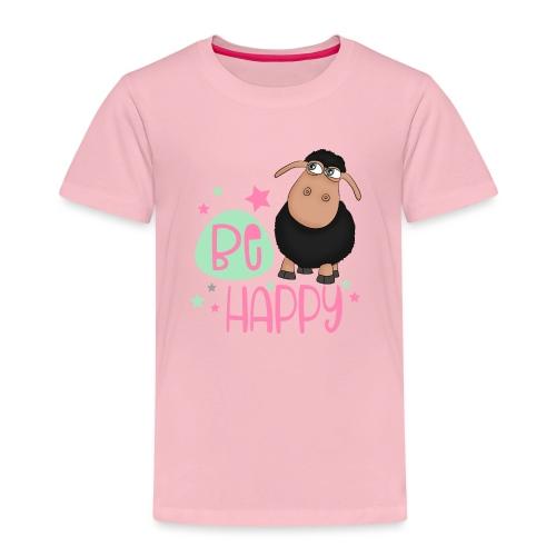 Schwarzes Schaf - be happy Schaf Glückliches Schaf - Kinder Premium T-Shirt