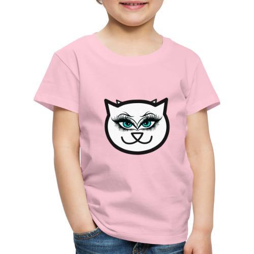 Hipster Cat Girl by T-shirt chic et choc - T-shirt Premium Enfant