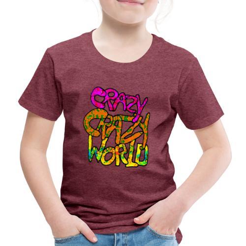 kleurige crazy crazy world - Kinderen Premium T-shirt