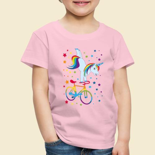 Kunstrad   Einhorn Handstand Regenbogen - Kinder Premium T-Shirt