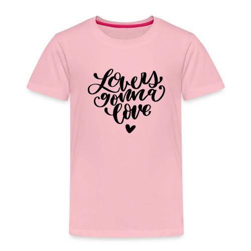 Lovers gonna love Herz Liebe - Kinder Premium T-Shirt