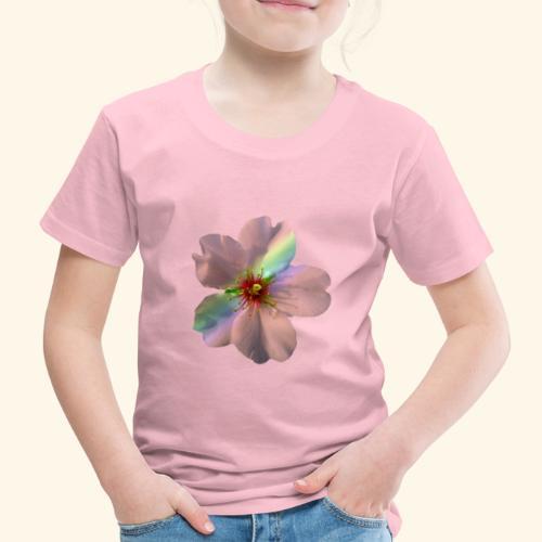 zauberhafte Blüte in coral, Regenbogen - Kinder Premium T-Shirt