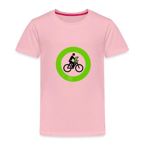 e Bike grün schwarz Schild Logo Emblem - Kinder Premium T-Shirt