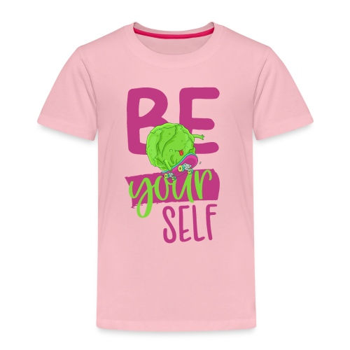 Be yourself happy Veggie Kohlkopf - Vegan Skater - Kinder Premium T-Shirt